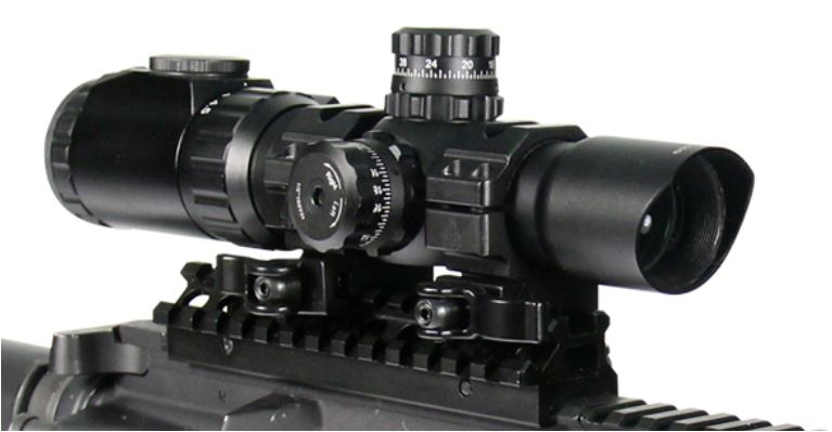 Leapers UTG 1-4 5X28 Circle Dot CQB Scope Glass Etched IE